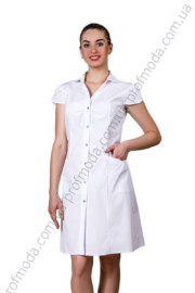 Медицинские халаты.  Женский медицинский халат «Лилия» (короткий рукав)